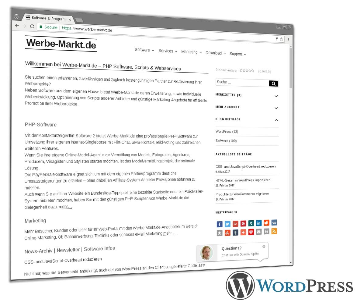 Relaunch von Werbe-Markt.de auf WordPress-Basis