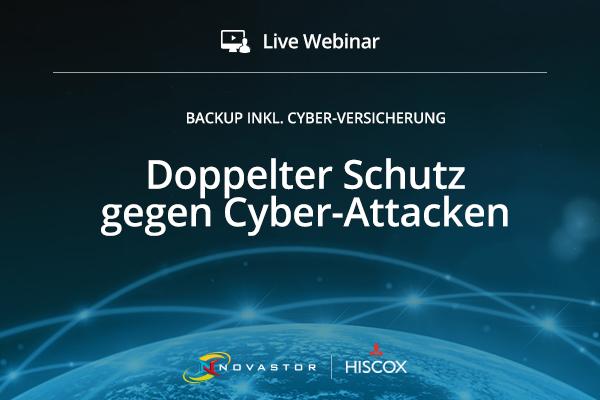 Hiscox und NovaStor: Rundum-Versicherung gegen Schäden aus Cyber-Attacken