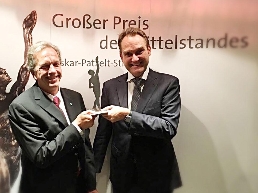 GRÜN Software AG als Finalist beim Mittelstandspreis
