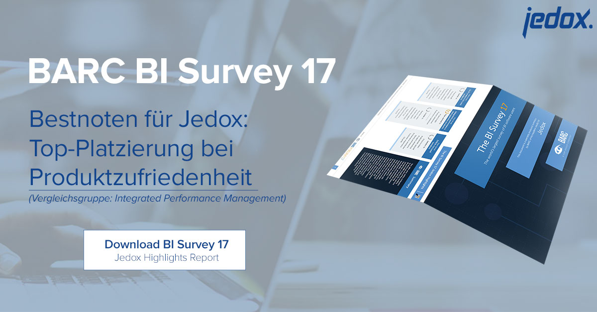Bestnoten für Jedox im BARC BI Survey 17