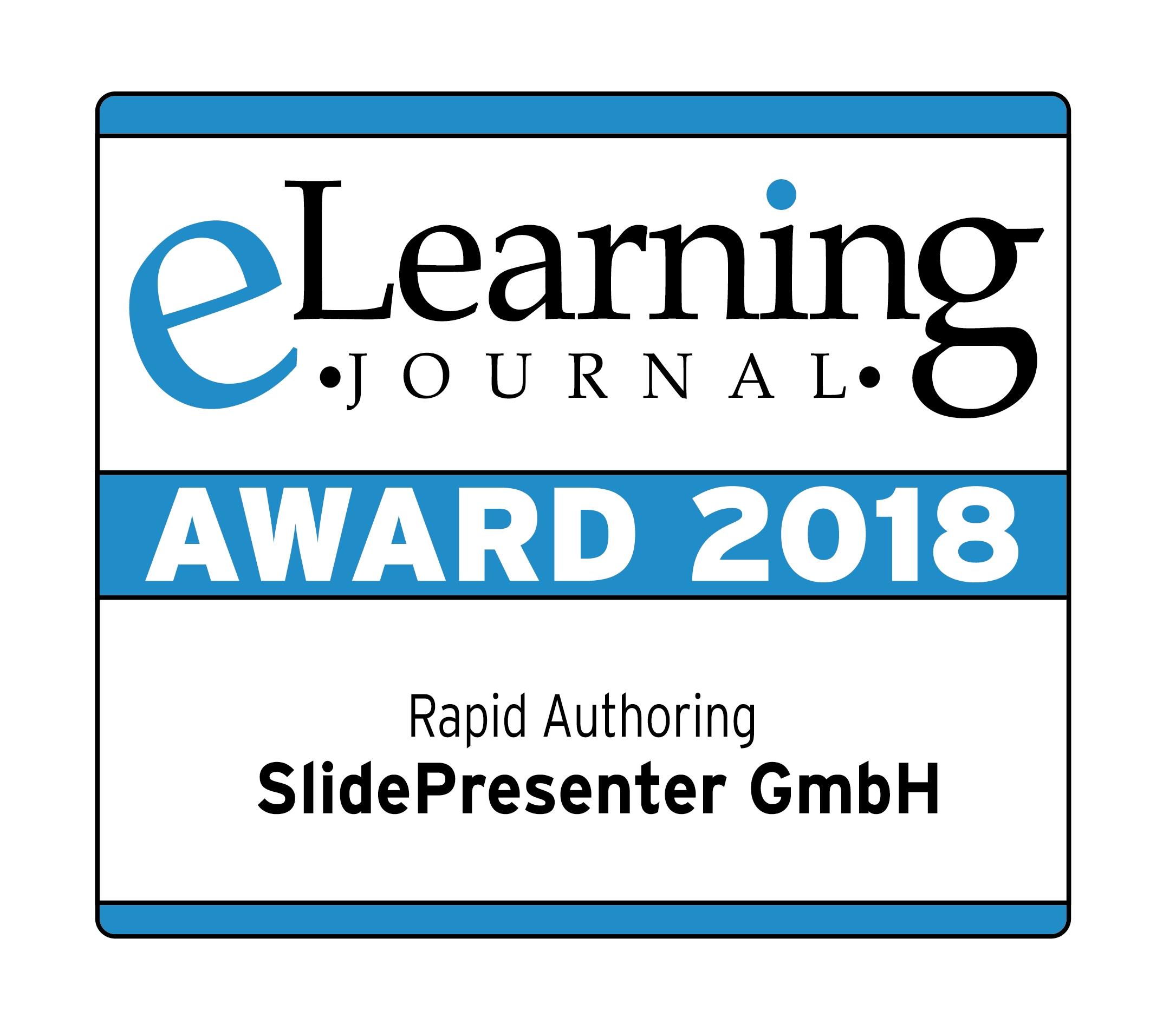 SlidePresenter gewinnt eLearning Award 2018