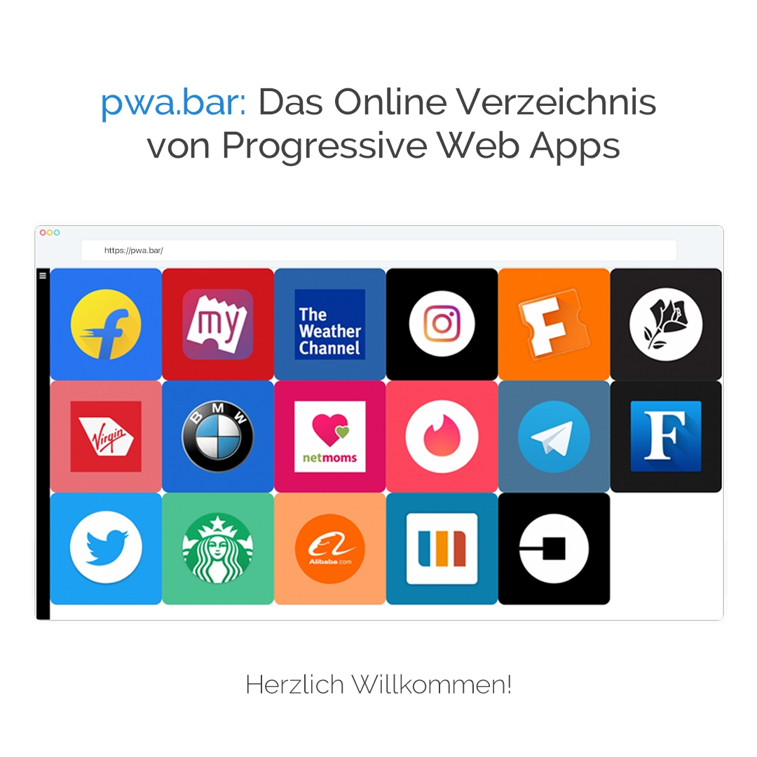 PWA.BAR: der Showroom für Progressive Web Apps