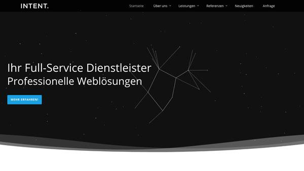 Die Intent GmbH im neuen Design – Relaunch Unserer Website