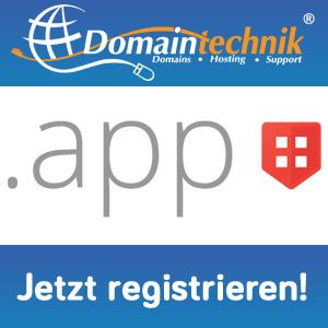 .app Domain jetzt verfügbar!