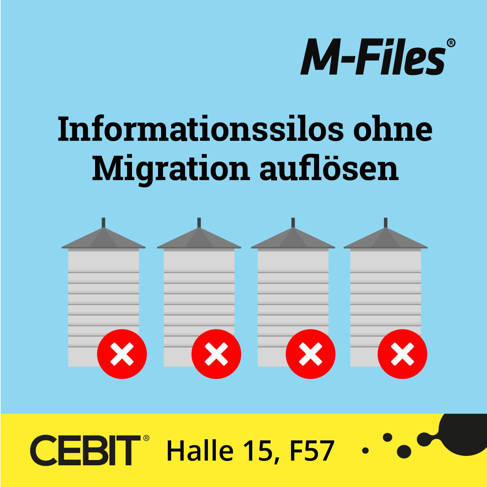 M-Files auf der CEBIT 2018: Das Ende der Infosilos