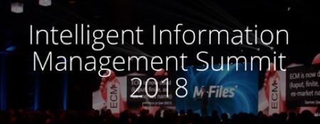 M-Files lädt zum Intelligent Information Management Summit 2018