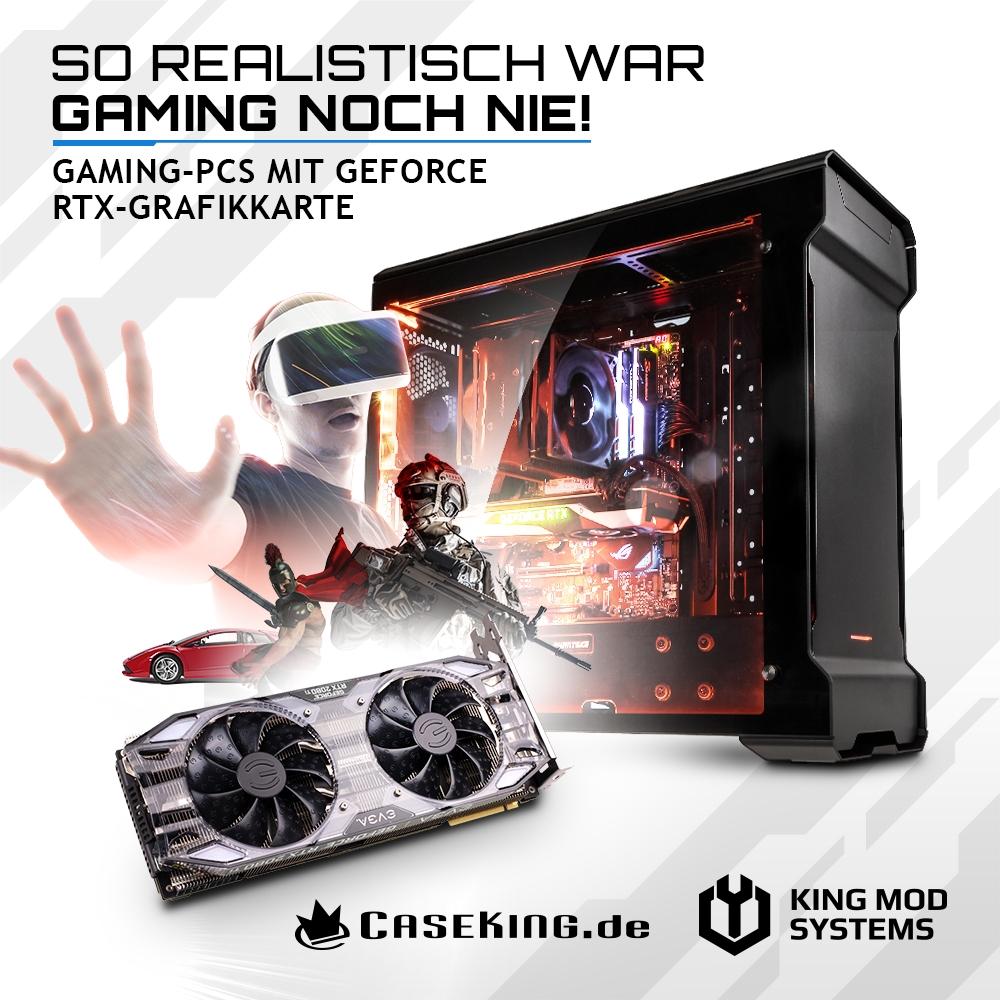 JETZT bei Caseking – Leistungsstarke Gaming-PCs mit NVIDIA GeForce RTX-Grafikkarten.