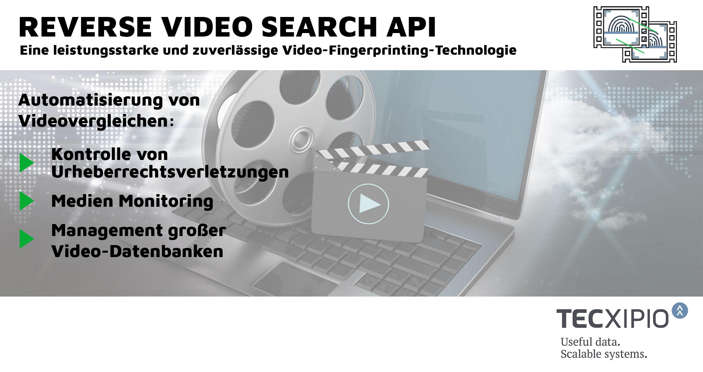 TECXIPIO bringt die Reverse Video Search API auf den Markt