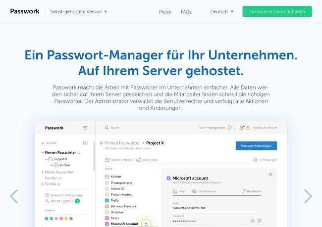 Passwork: selbstgehosteter und Cloud-basierter Passwortmanager jetzt in Deutschland verfügbar