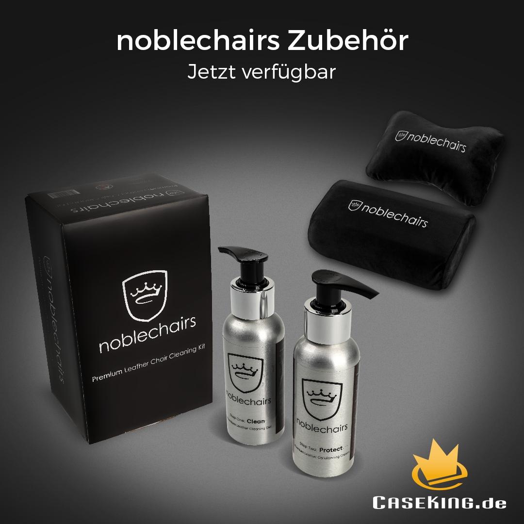NEUHEIT bei Caseking – Das noblechairs Premium Reinigungs- und Pflegeset garantiert optimale Pflege für Gaming-Stühle.