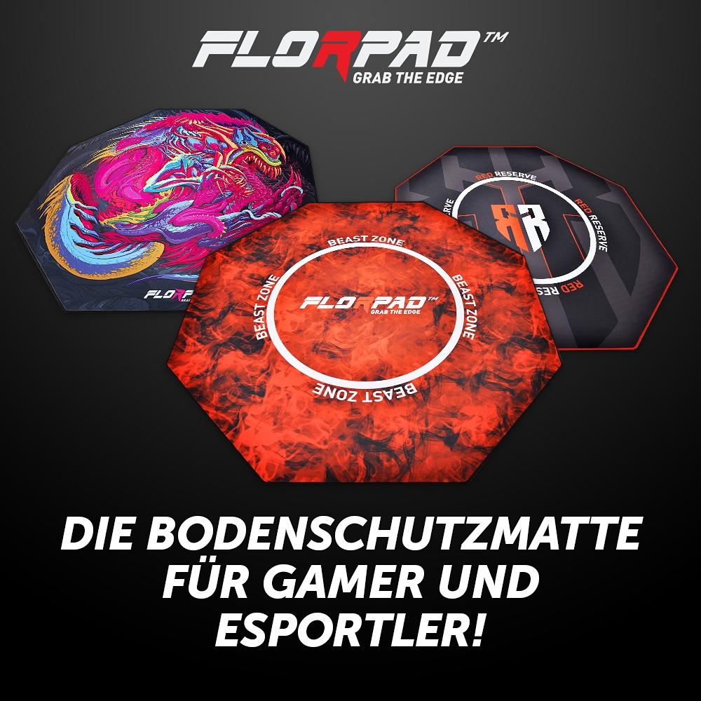 BRANDNEU bei Caseking – Florpad bietet den perfekten Schutz für den Fußboden jedes Gamers.