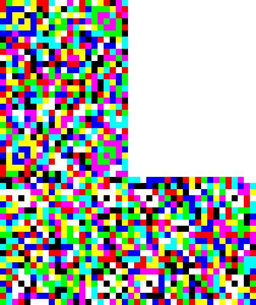 Echtheitsnachweis auf farbenfrohem Barcode