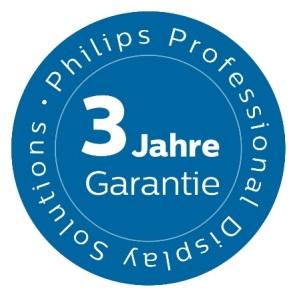 Philips Professional Display Solutions erweitert die Garantie für Professional-TV-Produkte auf drei Jahre