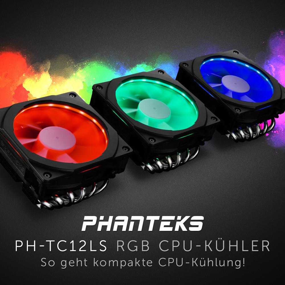 NEUHEIT bei Caseking – Kompakter PHANTEKS PH-TC12LS Top-Blow-Kühler mit eindrucksvoller RGB-Beleuchtung.