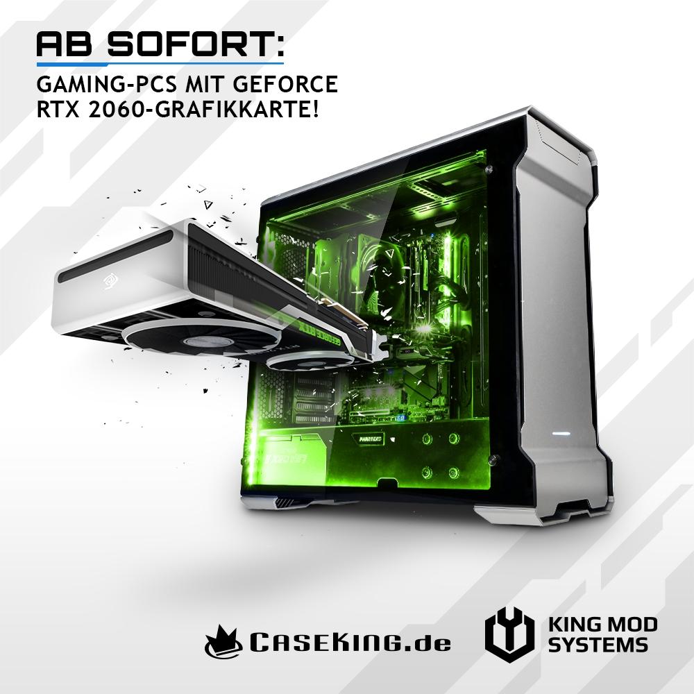 JETZT bei Caseking – Gaming-PCs mit NVIDIA GeForce RTX 2060-Grafikkarten.