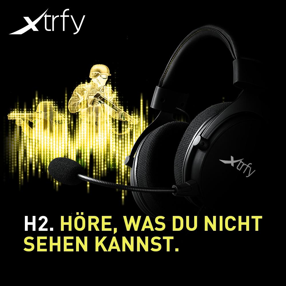 BRANDNEU bei Caseking – Xtrfy H2 Pro Gaming Headset: Höre, was du nicht sehen kannst.