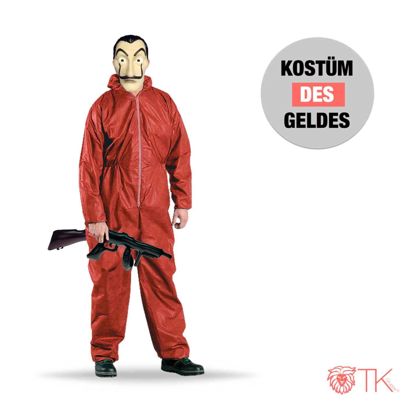 Kostümtrend 2019 ? Die TK Gruppe ist sich sicher, Haus des Geldes Kostüm !