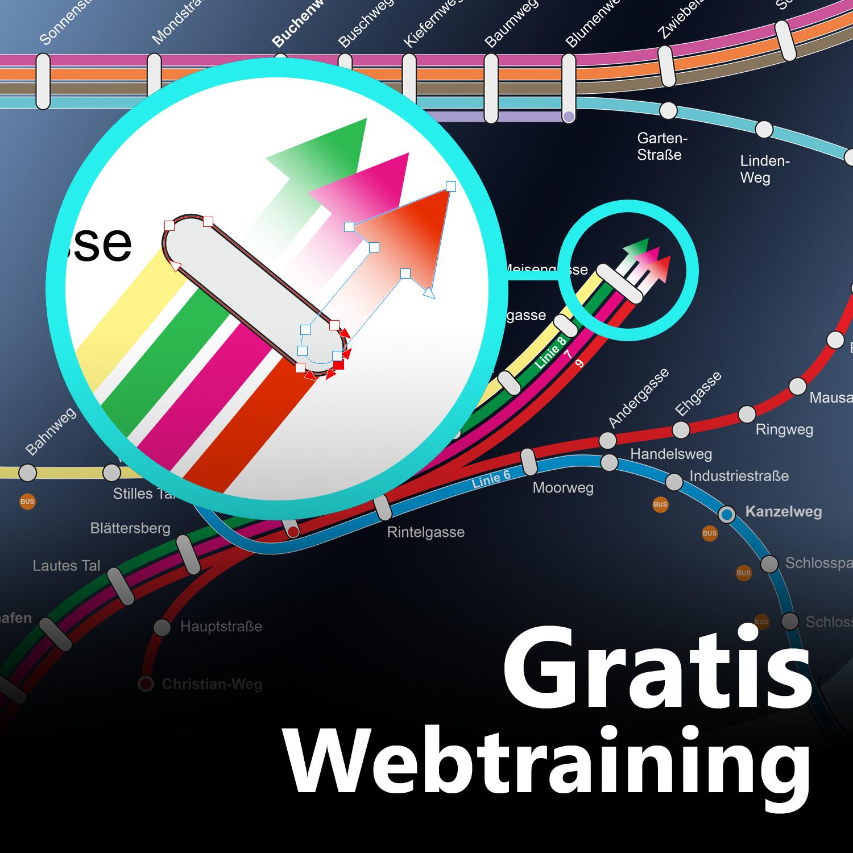 Liniennetzpläne zeichnen mit Corel – gratis Web-Training