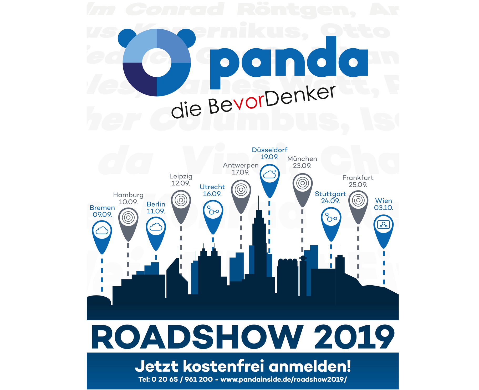 Panda Security Roadshow in elf Städten