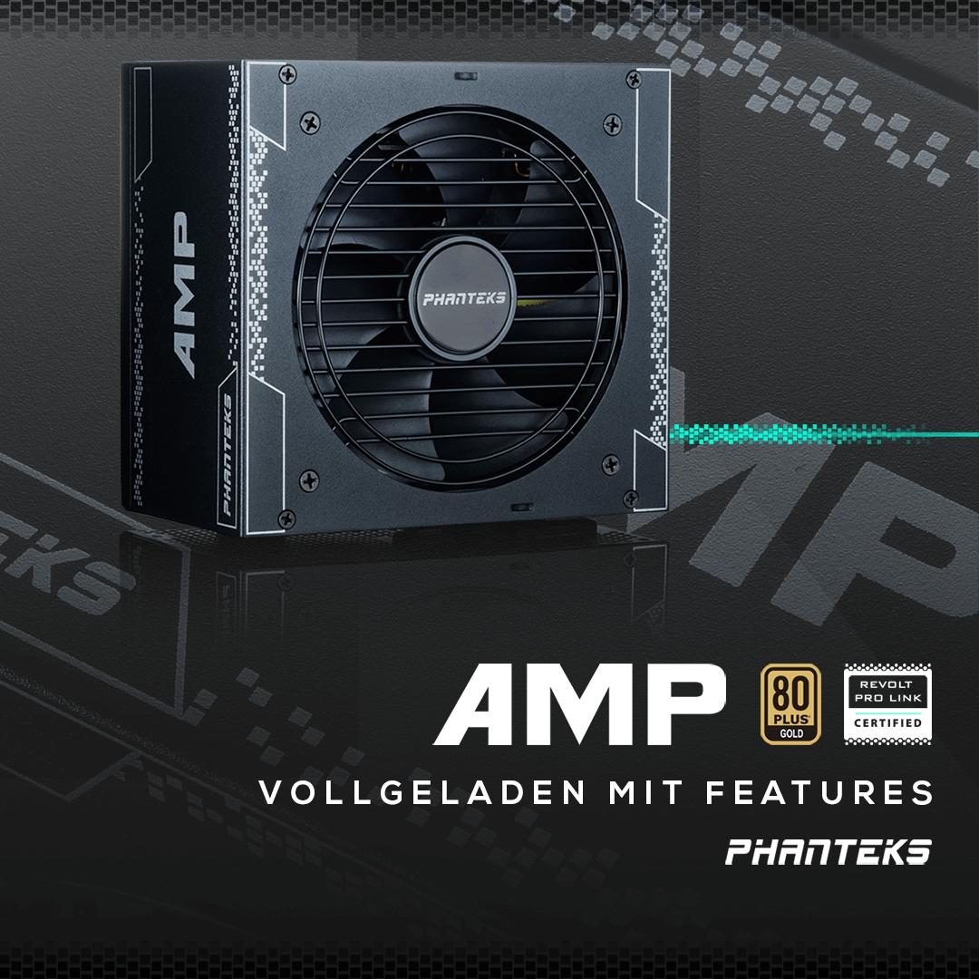 Jetzt bei Caseking – Vollmodulare Netzteile der PHANTEKS AMP-Serie