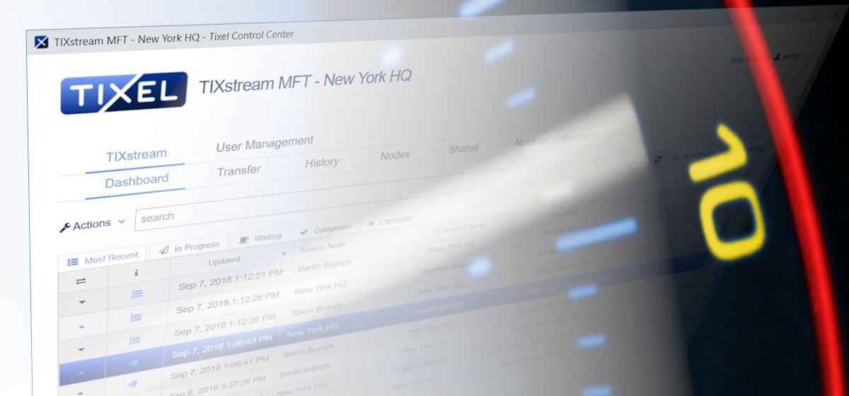 Dateitransfers zwischen Standorten von ARRI Media mit TIXstream MFT