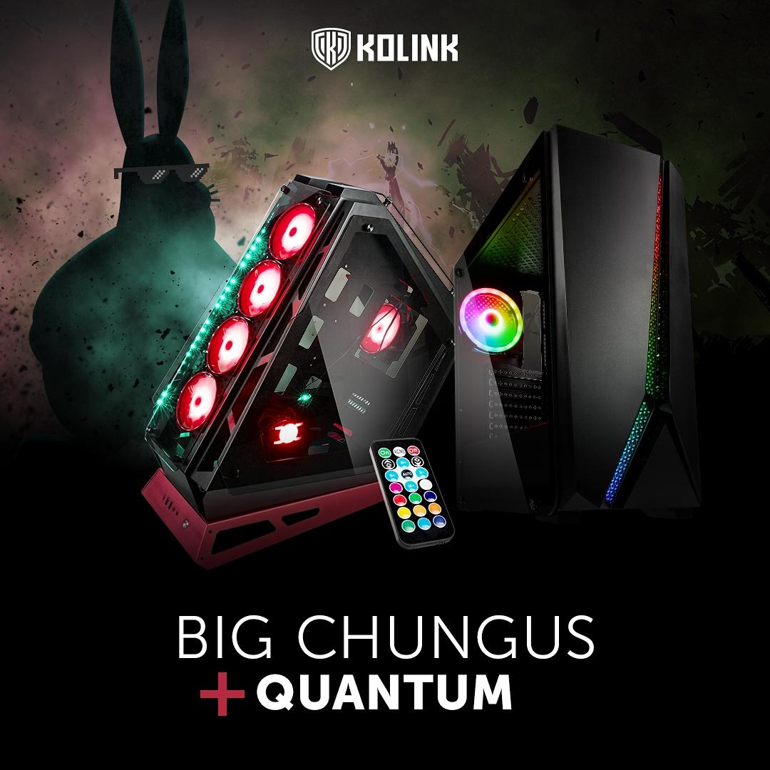 BRANDNEU bei Caseking – Kolink Big Chungus & Kolink Quantum RGB-Gehäuse