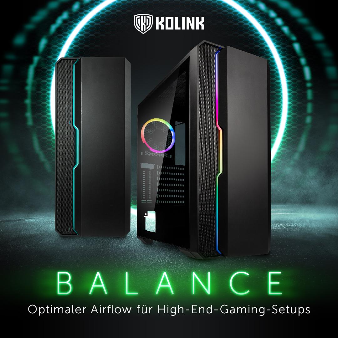 NEU bei Caseking – Das moderne High-Airflow-Gehäuse Kolink Balance ARGB!