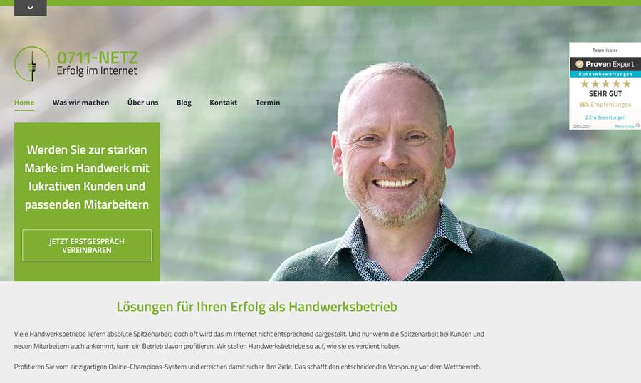 Internet-Agentur 0711-Netz mit neuer Website
