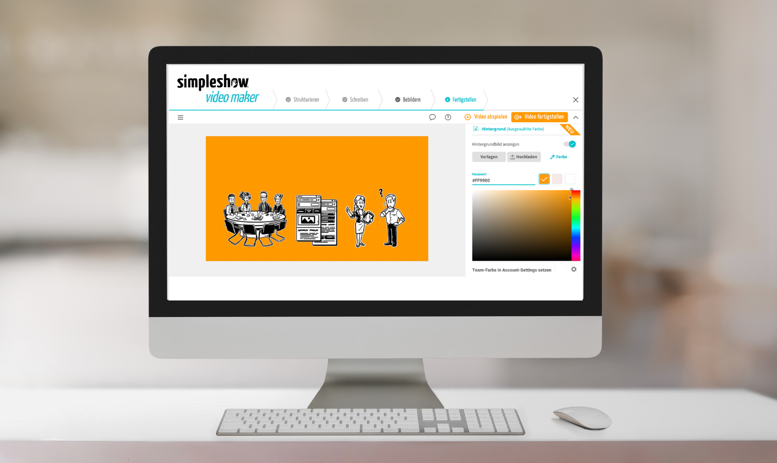simpleshow video maker entwickelt neue CI Features